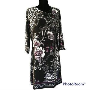White House/Black Market print dress Size Large